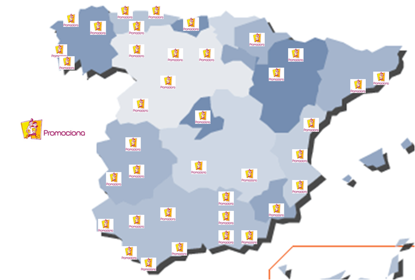 Promociona: mapa de implantación