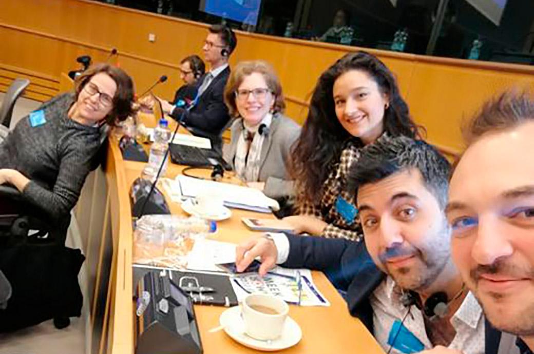 Miembros del equipo Internacional en la Roma Week en el Parlamento Europeo