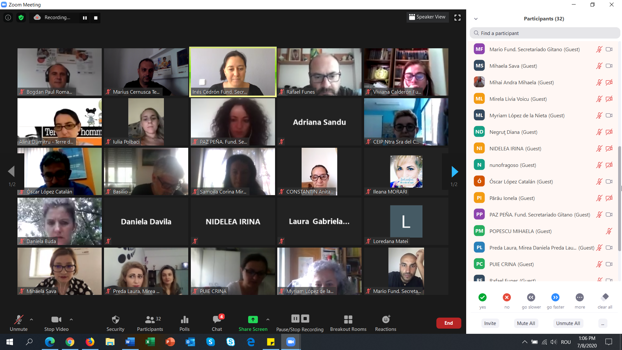 Online transnational meeting between educational professionals of Spain and Romania