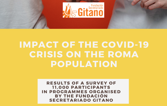 The Fundación Secretariado Gitano carries out a telephone survey to 11,000 Roma people that reveals the serious social impact of the Covid-19 crisis