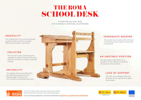 The Fundación Secretariado Gitano presents the first desk that fights school dropout
