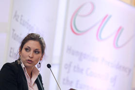 Livia Jaroka, Hungarian and Roma Member of the European Parliament, was awarded the FSG Prize 2012