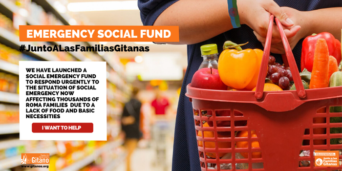 The Fundación Secretariado Gitano is launching the Emergency Social Fund #JuntoALasFamiliasGitanas (#WithRomaFamilies) to tackle the situation of vulnerability now affecting thousands of families.