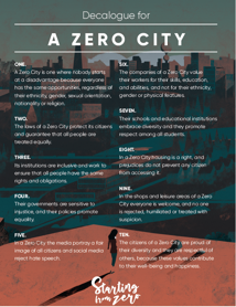 Decalogue for a Zero City