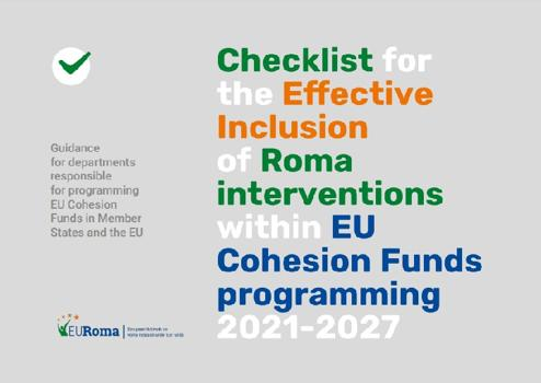 EURoma Checklist for the Effective Inclusion of Roma Interventions within EU Cohesion Funds programming 2021-2027